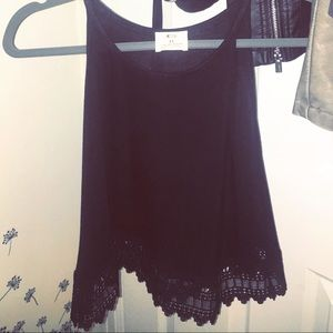 Urban Outfitters Pins & Needles Black Lace Tank ♡